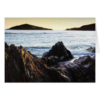 Bantham View to Burgh Island blank notelet / card