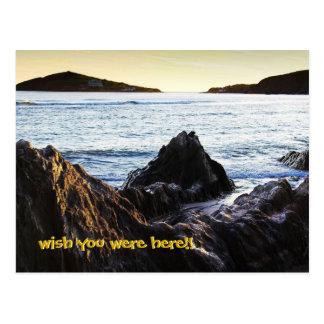Bantham View to Burgh Island Postcard