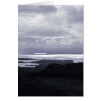 Bantry Bay from Tunnel Road Ireland. Blue. Card