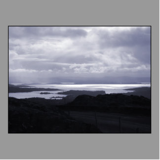 Bantry Bay from Tunnel Road Ireland. Blue. Cutout