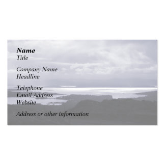 Bantry Bay from Tunnel Road Ireland. Blue. Double-Sided Standard Business Cards (Pack Of 100)