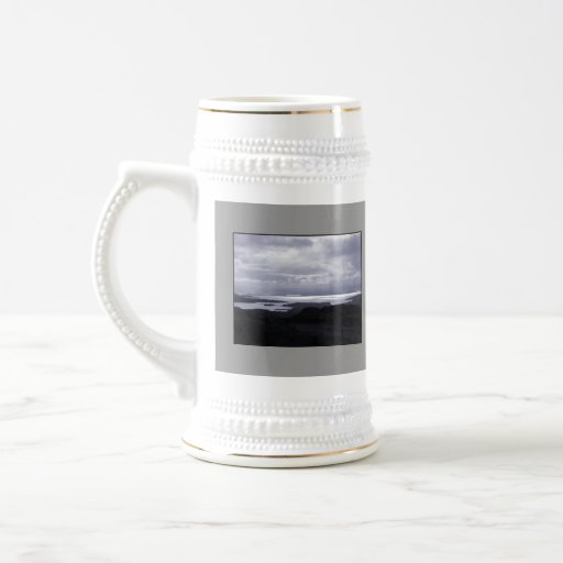 Bantry Bay from Tunnel Road Ireland. Blue. 18 Oz Beer Stein