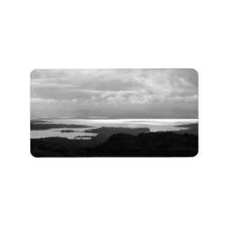 Bantry Bay from Tunnel Road Ireland. Label