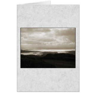 Bantry Bay from Tunnel Road Ireland. Sepia Colors. Card
