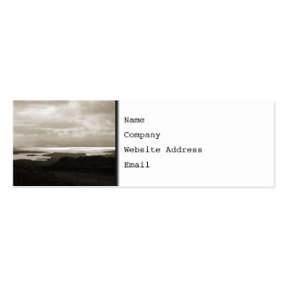 Bantry Bay from Tunnel Road Ireland. Sepia . Double-Sided Mini Business Cards (Pack Of 20)