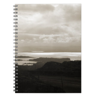 Bantry Bay from Tunnel Road Ireland. Sepia . Notebook