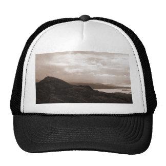 Bantry Bay, Tunnel Road Ireland. Warm Sepia Colors Trucker Hats