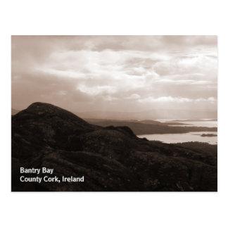 Bantry Bay, Tunnel Road Ireland. Warm Sepia Colors Postcard