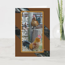 Banty Rooster Brothers TY 4276-z Thank You Card