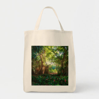 banyan in garden grocery tote bag
