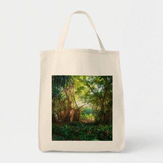 banyan in garden tote bag