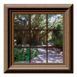 Banyan Tree Fake Window Scene Poster