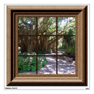 Banyan Tree Fake Window View Wall Decal