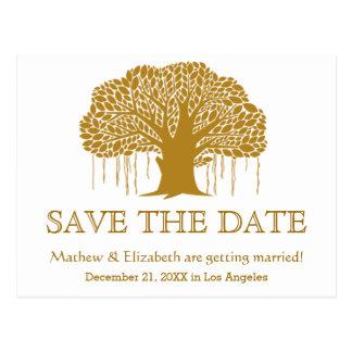 Banyan Tree Rustic Outdoor Wedding Save The Date Postcard