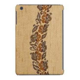 Banyans Hawaiian Hibiscus Faux Wood Surfboard iPad Mini Cases