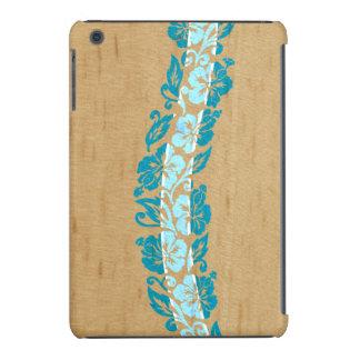Banyans Hawaiian Hibiscus Faux Wood Surfboard iPad Mini Retina Cover
