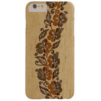 Banyans Hawaiian Hibiscus Faux Wood Surfboard Barely There iPhone 6 Plus Case