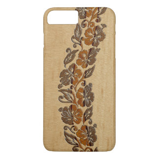 Banyans Hawaiian Hibiscus Faux Wood Surfboard iPhone 7 Plus Case