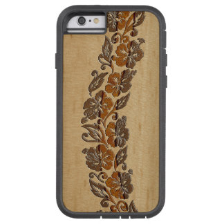 Banyans Hawaiian Hibiscus Faux Wood Surfboard Tough Xtreme iPhone 6 Case