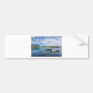 banyoles lake. spain . catalonia bumper sticker