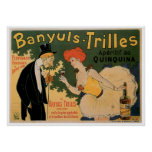 Banyuls Trilles Vintage Wine Drink Ad Art Posters