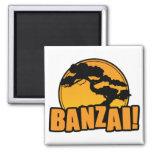 Banzai 2 Inch Square Magnet