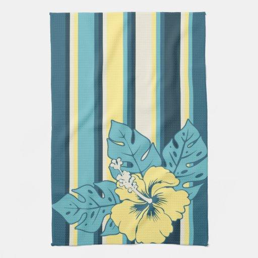 Hawaiian Beach Blanket: Banzai Beach Hawaiian Hibiscus Kitchen Towel