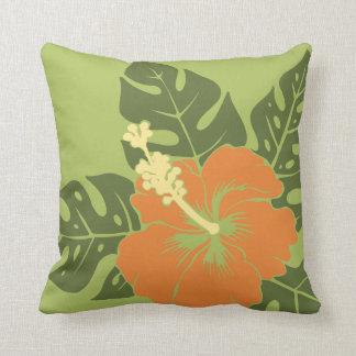Banzai Beach Hawaiian Hibiscus Square Pillows