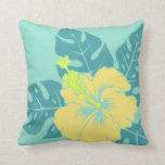 Banzai Beach Hawaiian Hibiscus Square Pillows