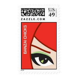 Banzai Chicks Stamp