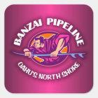Banzai Pipeline 2 Square Sticker