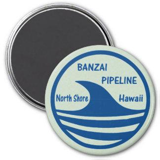 Banzai Pipeline 3 Inch Round Magnet