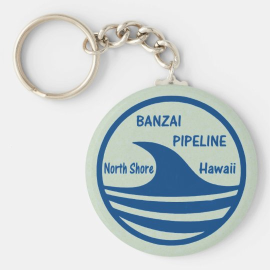 Banzai Pipeline Keychain