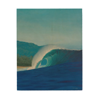 Banzai Pipeline - Surf Art Wood Print