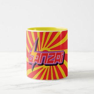 Banzai Red Swirl Mug