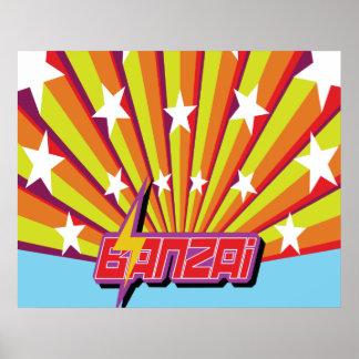 Banzai Stars Poster