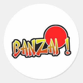 Banzai Sticker