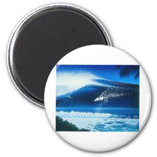 BANZAI Surf Art by Steven Power 2 Inch Round Magnet