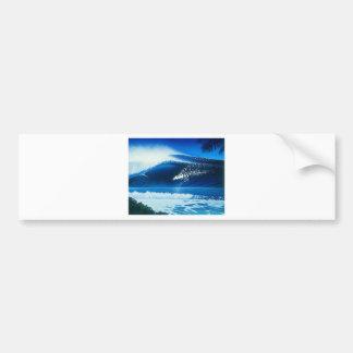 BANZAI Surf Art by Steven Power Car Bumper Sticker
