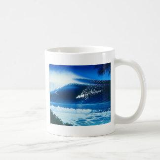 BANZAI Surf Art by Steven Power Classic White Coffee Mug