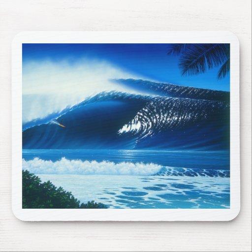 BANZAI Surf Art by Steven Power Mouse Pads