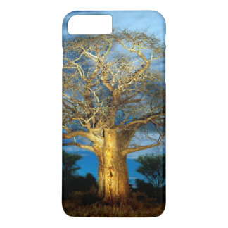 Baobab (Adansonia) Tree Light Up By The Moon iPhone 7 Plus Case