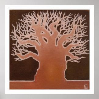 Baobab africano 1 póster