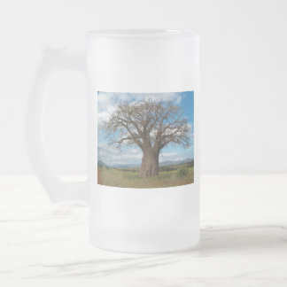 Baobab Tree Branch Personalize Destiny Destiny'S Frosted Glass Beer Mug