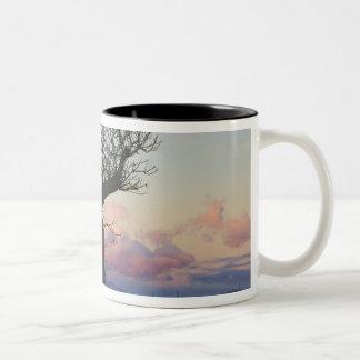 Baobab trees, Berenty, Toliara, Madagascar Two-Tone Coffee Mug