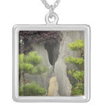 Bao's family garden, Huangshan, China. 2 Square Pendant Necklace