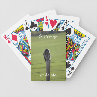 BAOW Barred Owl Bicycle Playing Cards