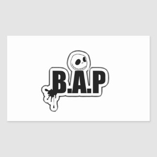 Bap adhesive rectangular sticker