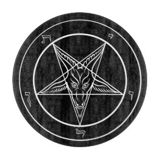 "Baphomet 12"" Glass Cutting Board"