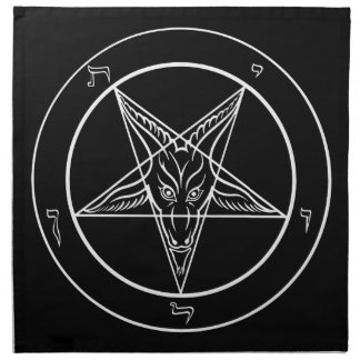 "Baphomet 20""x20"" Cloth - Set of 4 Printed Napkin"